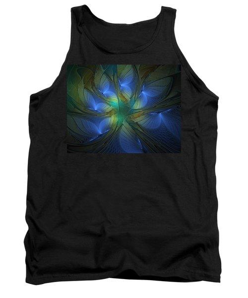 Blue Butterflies Tank Top