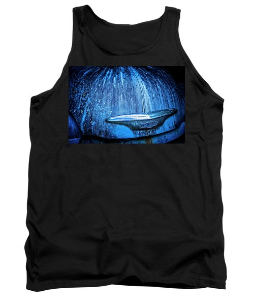 Blue Chevy Tank Top