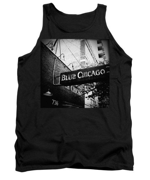 Blue Chicago Nightclub Tank Top