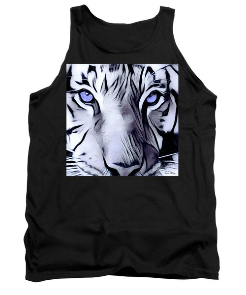 Blue Eyed Tiger Tank Top