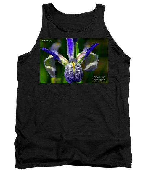 Blue Flag Iris Tank Top