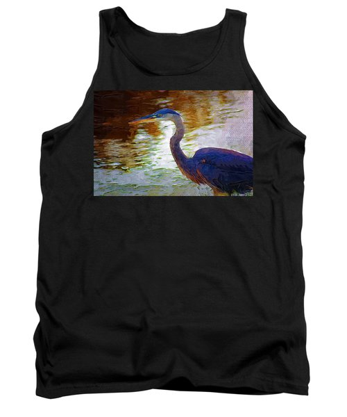 Tank Top featuring the photograph Blue Heron 2 by Donna Bentley