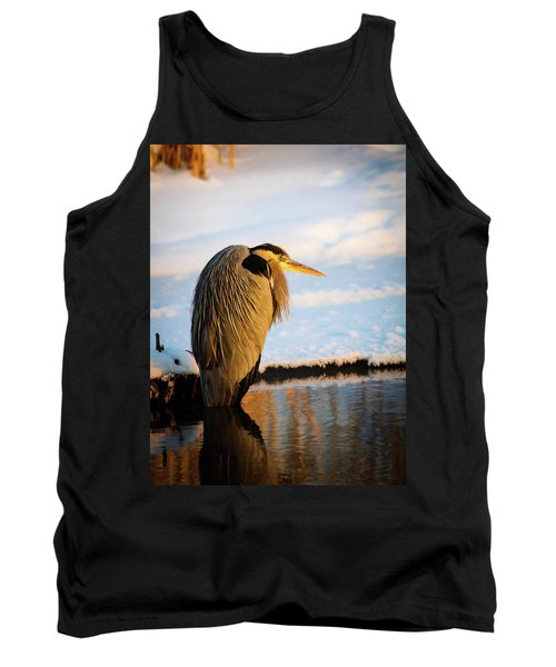 Blue Heron Resting Tank Top