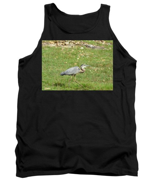 Tank Top featuring the photograph Blue Heron by Robin Regan