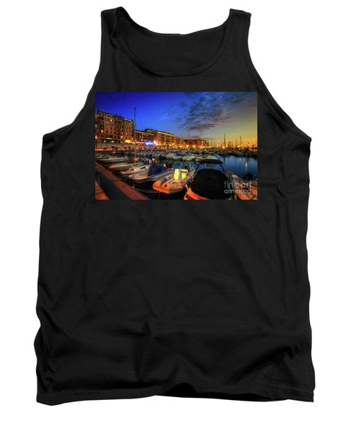 Tank Top featuring the photograph Blue Hour At Port Nice 1.0 by Yhun Suarez