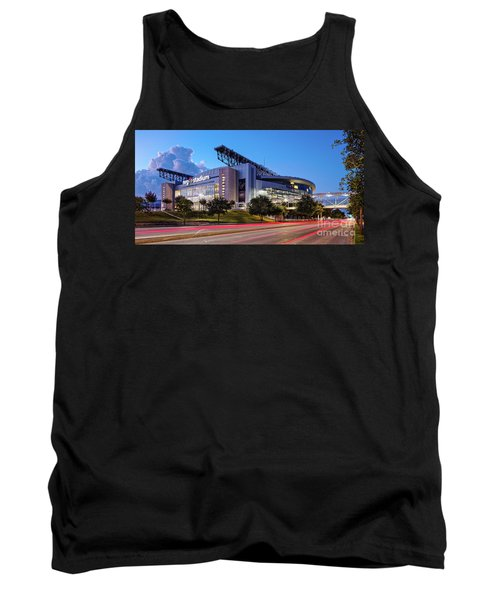 Blue Hour Photograph Of Nrg Stadium - Home Of The Houston Texans - Houston Texas Tank Top