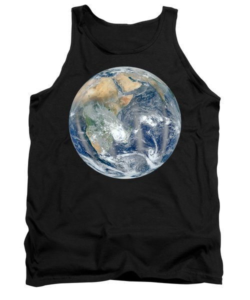Blue Marble 2012 - Eastern Hemisphere Of Earth Tank Top by Nikki Marie Smith