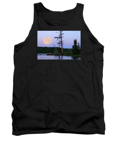 Blue Moon At Sunrise Tank Top by Steven Clipperton