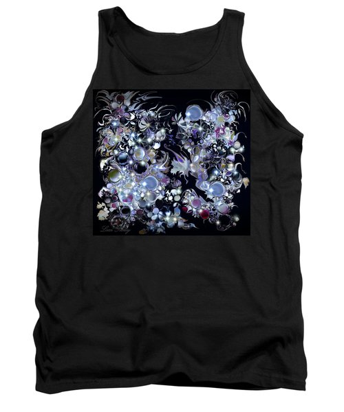 Tank Top featuring the digital art Blue Moon by Loxi Sibley