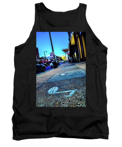 Blue Notes On Beale Tank Top