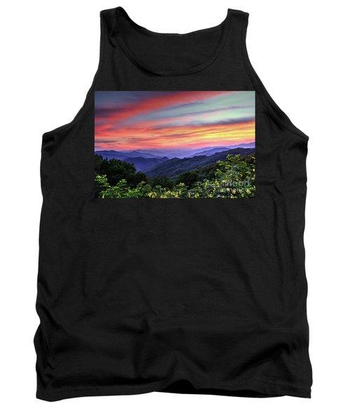 Blue Ridge Mountain Color Tank Top