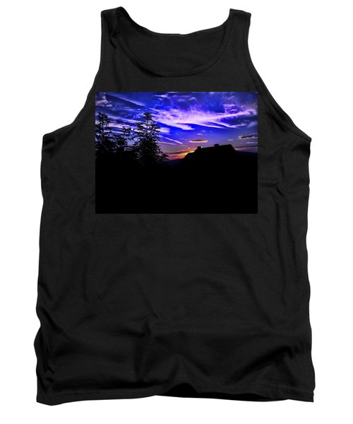 Tank Top featuring the photograph Blue Sunset In Poland by Mariola Bitner