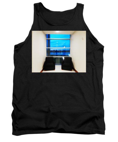 Blue Window Tank Top