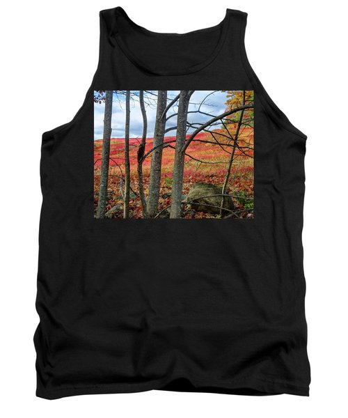 Blueberry Field Through The Wall - Cropped Tank Top