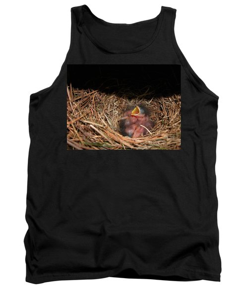 Tank Top featuring the photograph Bluebird Babies by Marie Hicks