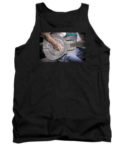 Blues And Tattoos Tank Top by Marion Johnson