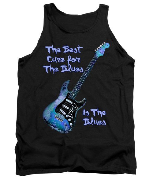Tank Top featuring the digital art Blues Is The Cure by WB Johnston