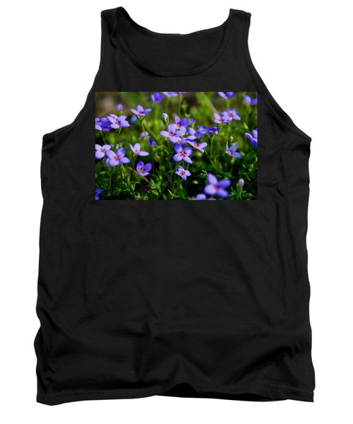 Tank Top featuring the photograph Bluets by Kathryn Meyer