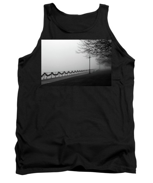 Tank Top featuring the photograph Boardwalk Fog 7 by Mary Bedy