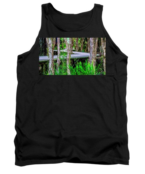 Boardwalk In The Woods Tank Top