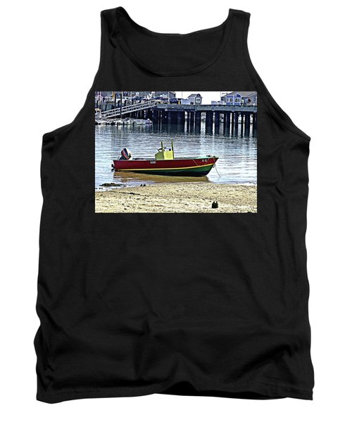 Boat At The Beach Provincetown Tank Top