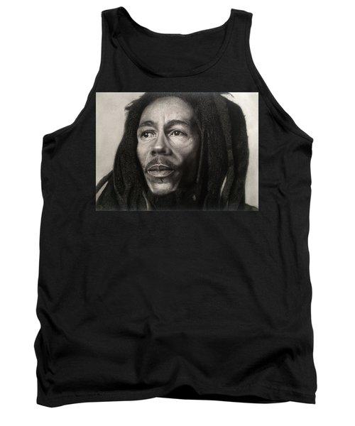 Bob Marley Drawing Tank Top