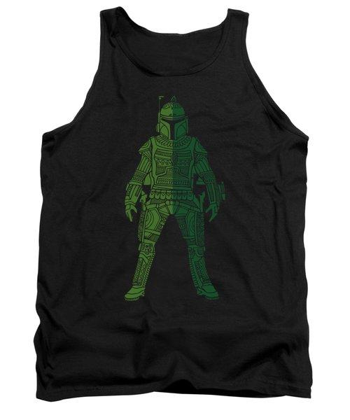 Boba Fett - Star Wars Art, Green 02 Tank Top