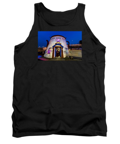 Bob's Java Jive - Historic Landmark During Blue Hour Tank Top