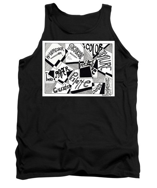 Books And Words Tank Top by Quwatha Valentine