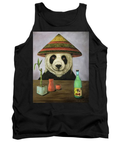 Tank Top featuring the painting Boozer 4 by Leah Saulnier The Painting Maniac