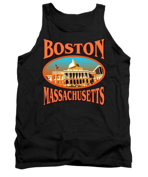 Boston Massachusetts Design Tank Top