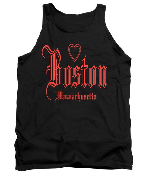 Boston Massachusetts Heart Design Tank Top