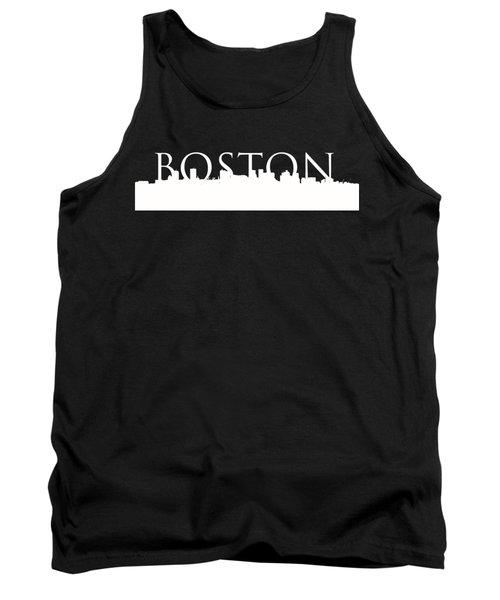 Boston Skyline Outline Logo 2 Tank Top