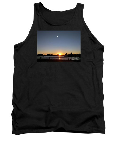 Tank Top featuring the photograph Boston Skyline Sunset   by Haleh Mahbod