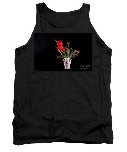Bouquet In Red Tank Top by Torbjorn Swenelius
