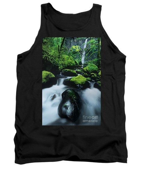 Tank Top featuring the photograph Boulder Elowah Falls Columbia River Gorge Nsa Oregon by Dave Welling