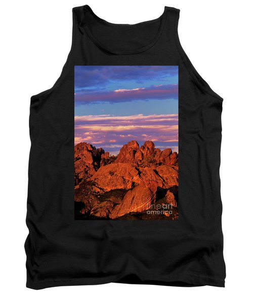 Boulders Sunset Light Pinnacles National Park Californ Tank Top by Dave Welling