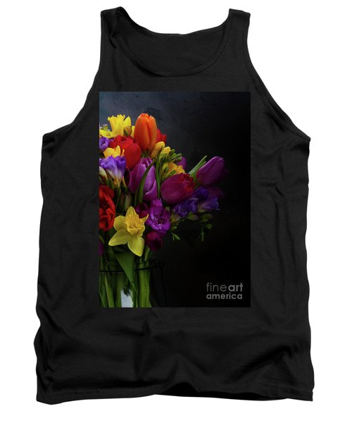 Flowers Dutch Style Tank Top