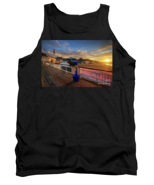 Tank Top featuring the photograph Bournemouth Pier Sunrise by Yhun Suarez