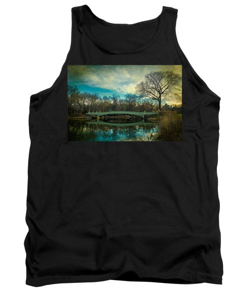Tank Top featuring the photograph Bow Bridge Reflection by Chris Lord