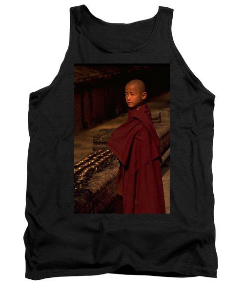 Boy Buddhist In Bodh Gaya Tank Top