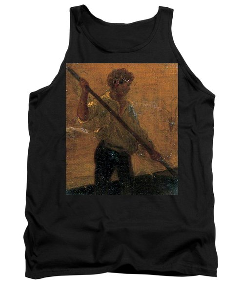 Tank Top featuring the painting Boy In A Punt by Henry Scott Tuke
