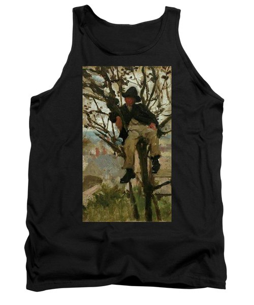 Tank Top featuring the painting Boy In A Tree by Henry Scott Tuke