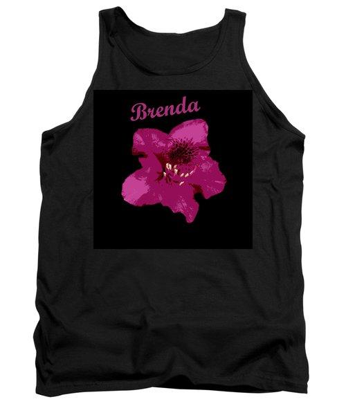 Blossom On Black- Brenda Tank Top