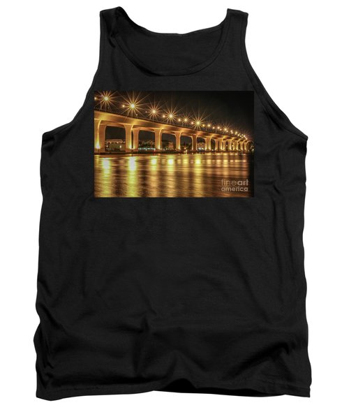 Bridge And Golden Water Tank Top by Tom Claud