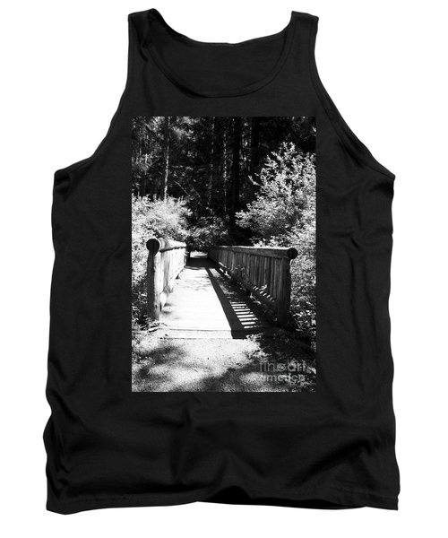 Tank Top featuring the photograph Bridge In Woods by Yulia Kazansky