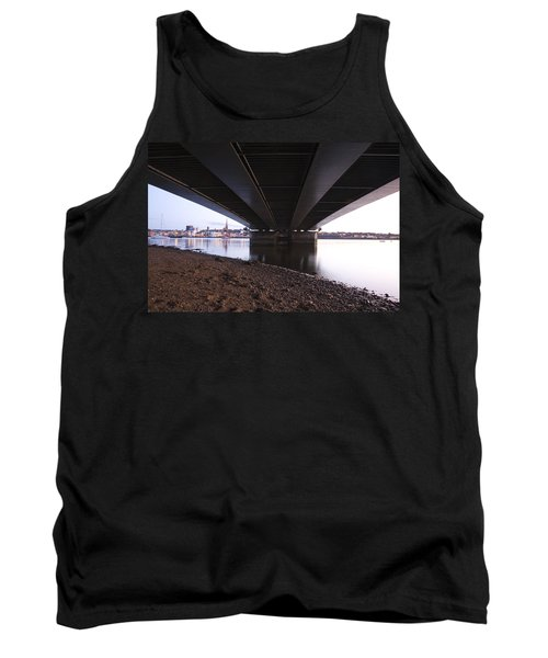 Tank Top featuring the photograph Bridge Over Wexford Harbour by Ian Middleton