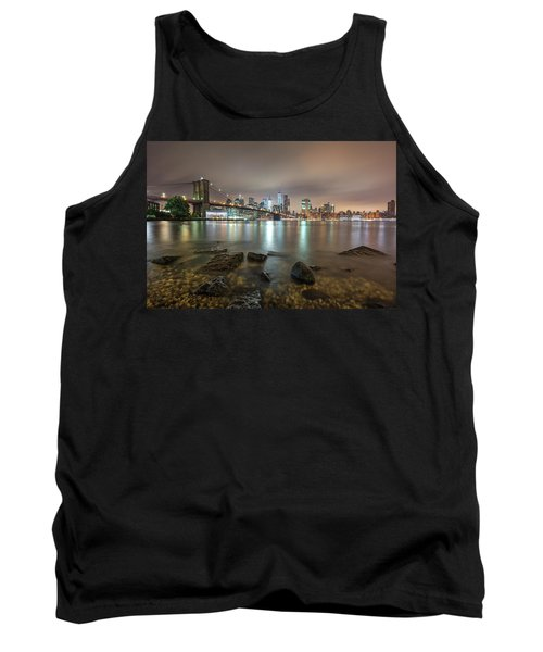 Tank Top featuring the photograph Brooklyn Bridge At Sunrise  by Emmanuel Panagiotakis