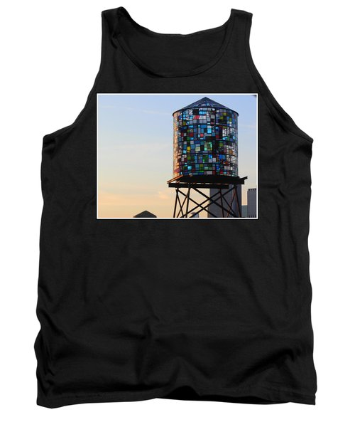 Brooklyn's Glowing Glass Water Tower - Public Art Tank Top