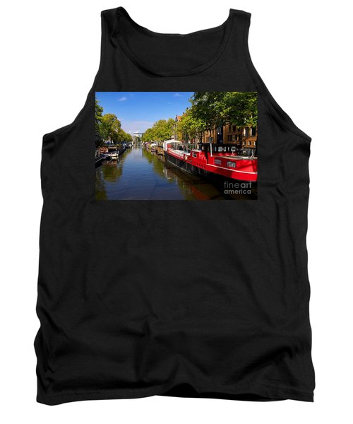 Brouwersgracht Canal In Amsterdam. Netherlands. Europe Tank Top